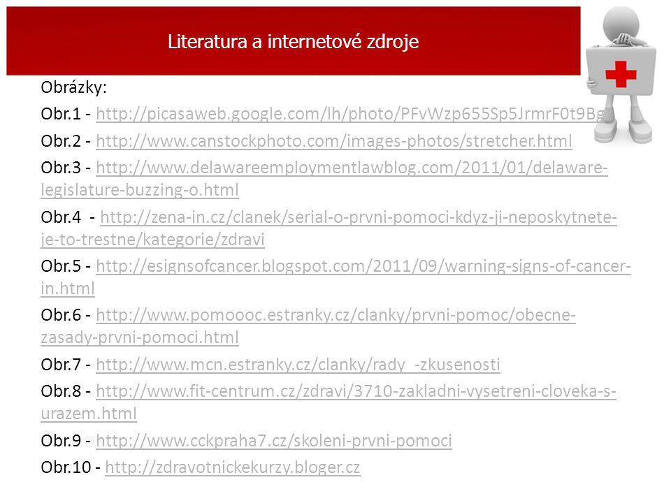 Literatura a internetové zdroje Obrázky: Obr.1 - http://picasaweb.google.com/lh/photo/PFvWzp655Sp5JrmrF0t9Bghttp://picasaweb.google.com/lh/photo/PFvWz