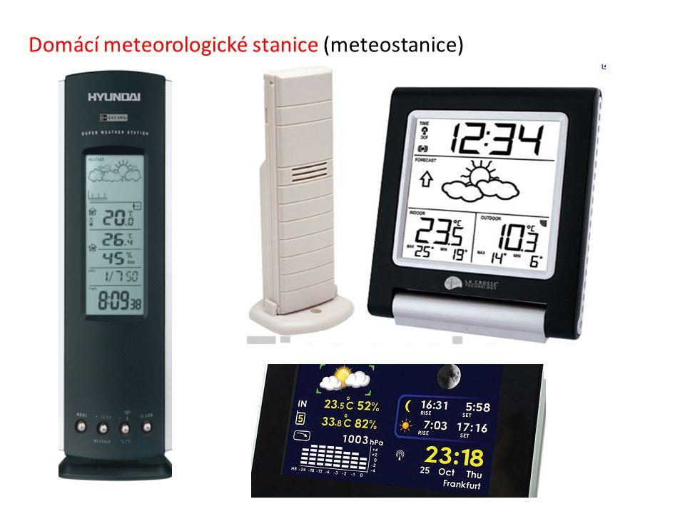Domácí meteorologické stanice (meteostanice)