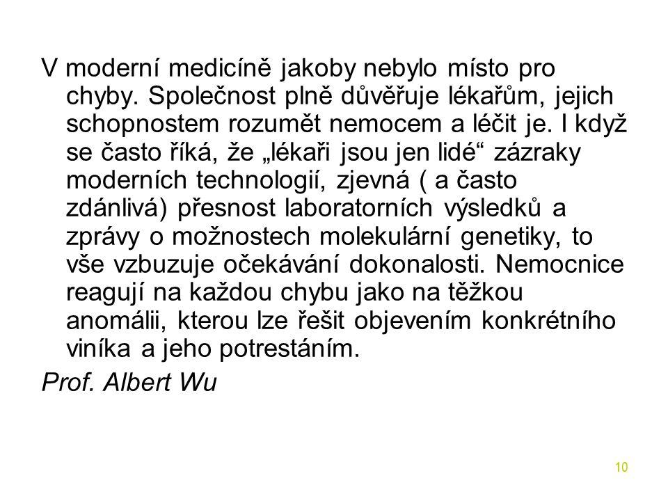 V moderní medicíně jakoby nebylo místo pro chyby. Společnost plně důvěřuje lékařům, jejich schopnostem rozumět nemocem a léčit je. I když se často řík