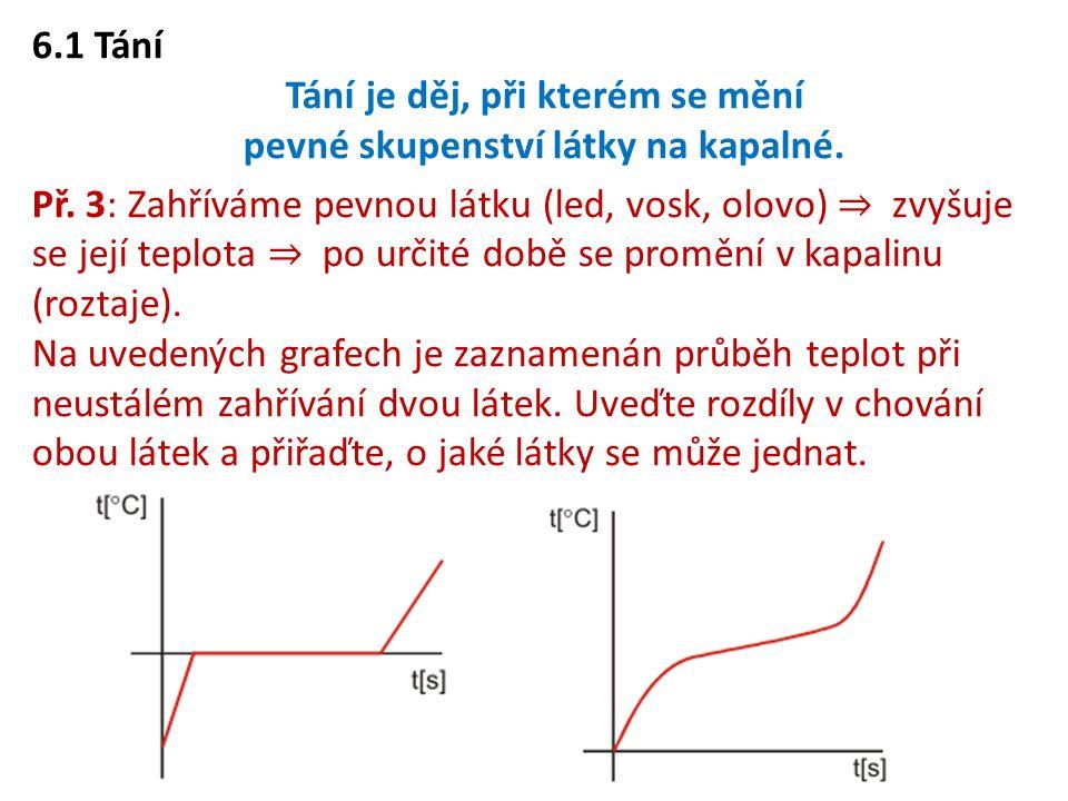 6.8 Fázový diagram Kromě křivky syté páry, můžeme do diagramu p – T zakreslit další křivky rovnovážných stavů – křivku tání a sublimační křivku.