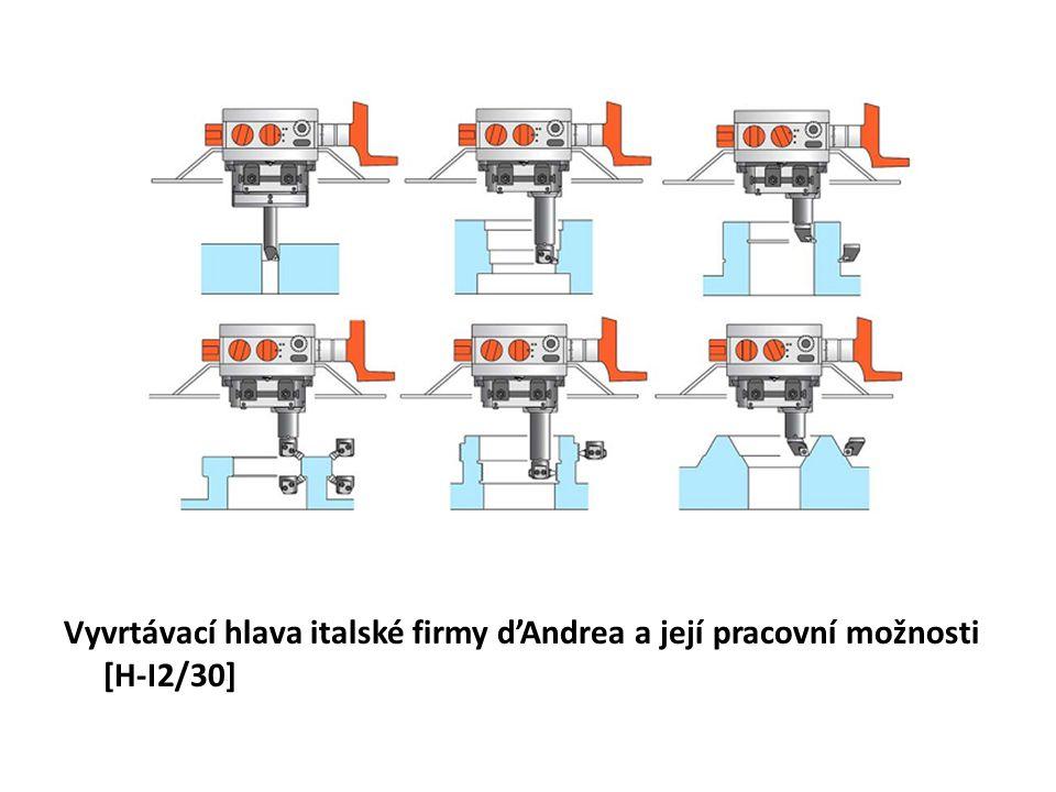 Vyvrtávací hlava italské firmy d'Andrea a její pracovní možnosti [H-I2/30]