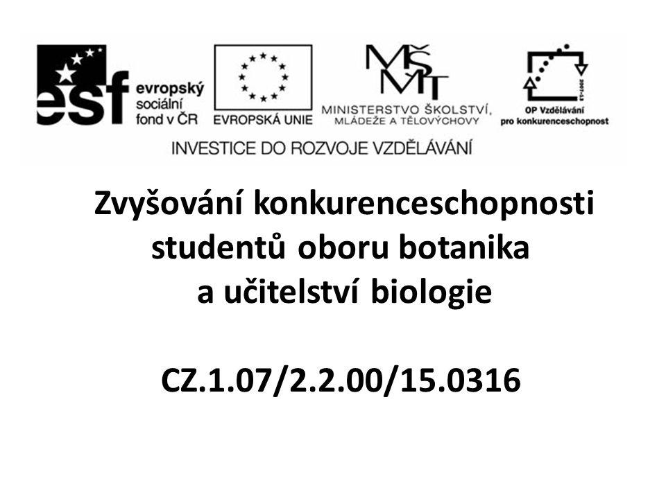 Zvyšování konkurenceschopnosti studentů oboru botanika a učitelství biologie CZ.1.07/2.2.00/15.0316