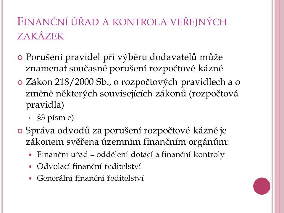 S PRÁVA ODVODŮ ZA PORUŠENÍ ROZPOČTOVÉ KÁZNĚ Procesní předpis: zákon č.