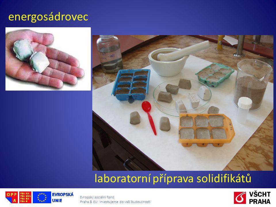 Evropský sociální fond Praha & EU: Investujeme do vaší budoucnosti energosádrovec laboratorní příprava solidifikátů