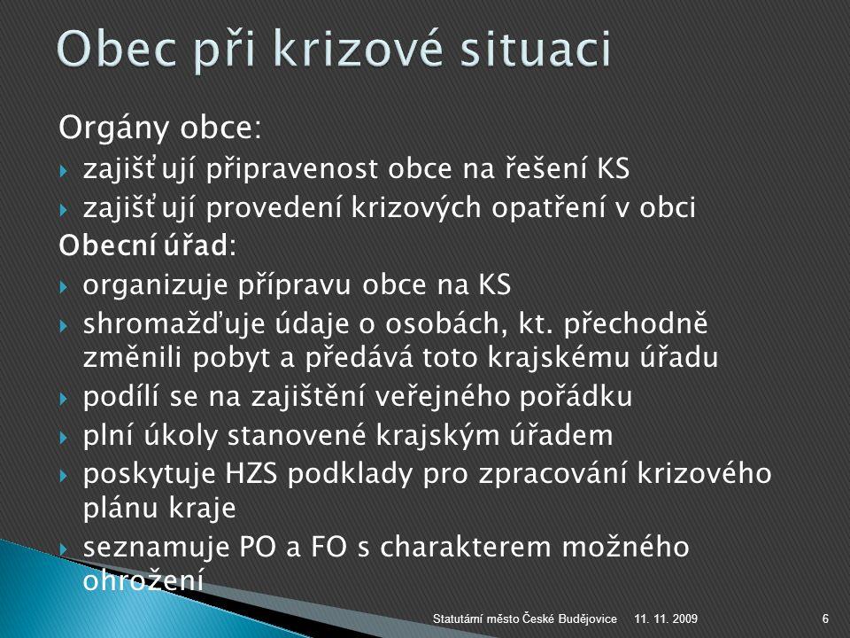 www.c-budejovice.cz 11. 11. 2009Statutární město České Budějovice17