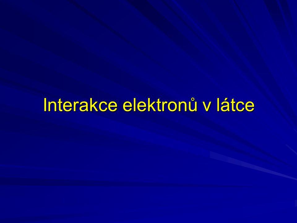 Interakce elektronů v látce
