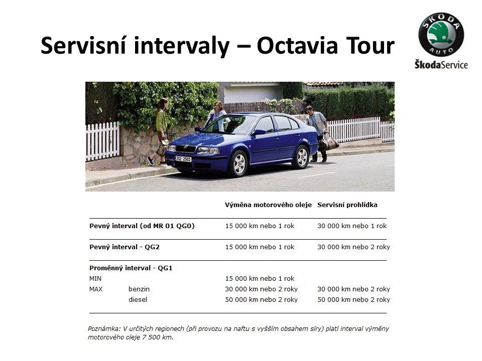 Servisní intervaly – Octavia Tour