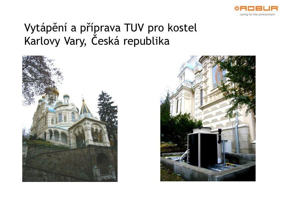 Vytápění a příprava TUV pro kostel Karlovy Vary, Česká republika