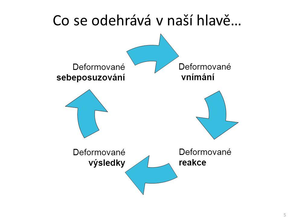 Deformované vnímání Deformované reakce Deformované výsledky Deformované sebeposuzování 5 Co se odehrává v naší hlavě…