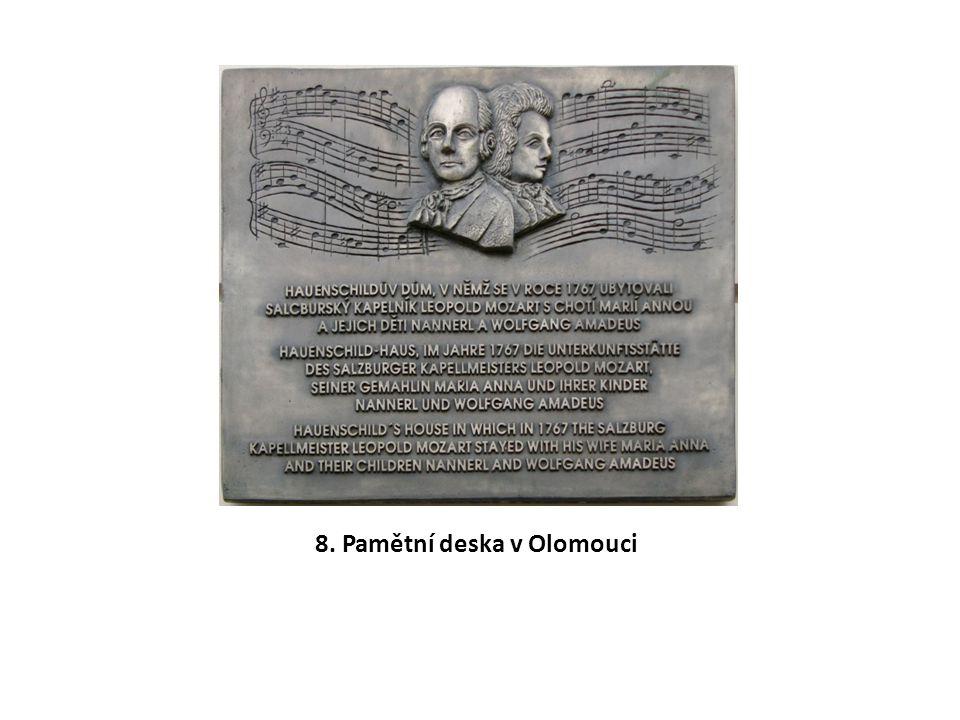 8. Pamětní deska v Olomouci