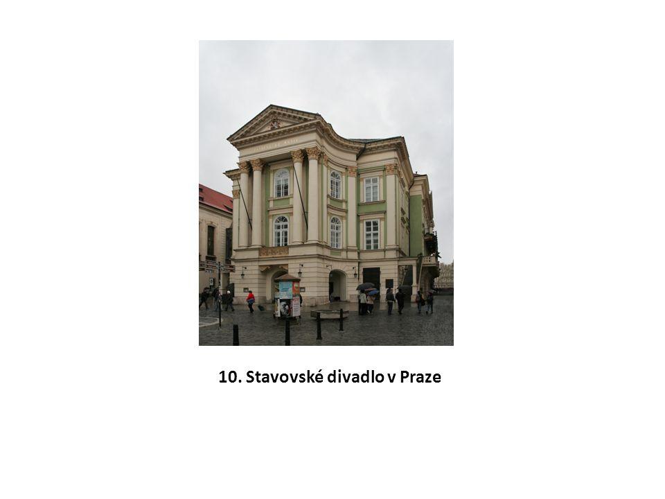 10. Stavovské divadlo v Praze