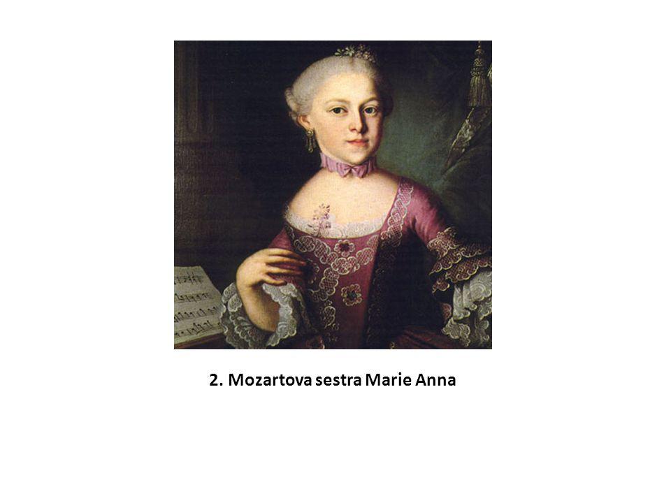 2. Mozartova sestra Marie Anna