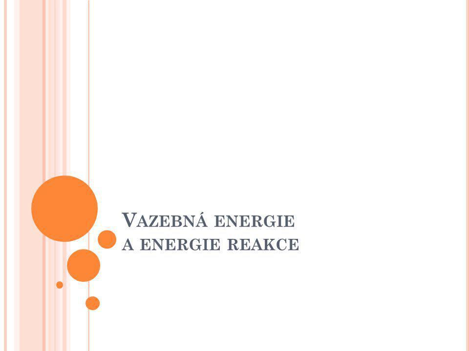 V AZEBNÁ ENERGIE A ENERGIE REAKCE