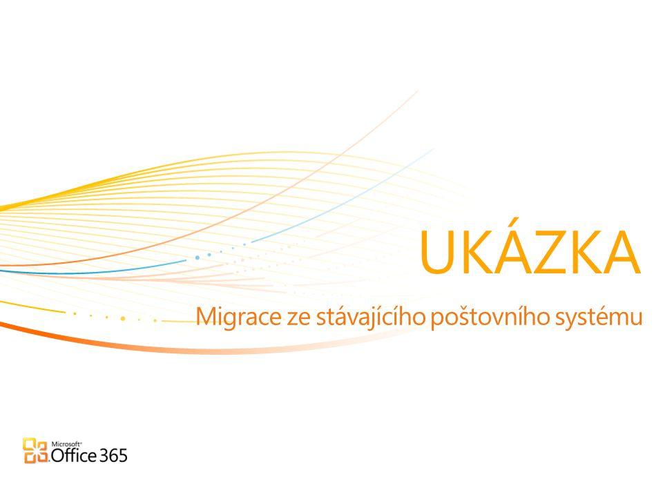 Migrace ze stávajícího poštovního systému UKÁZKA