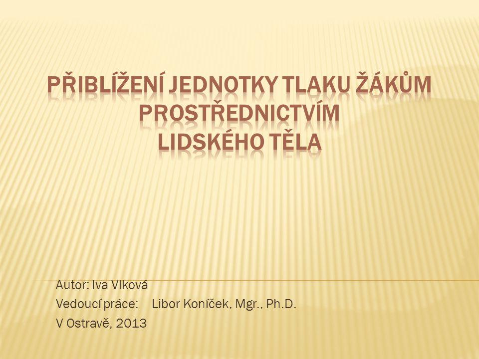Autor: Iva Vlková Vedoucí práce:Libor Koníček, Mgr., Ph.D. V Ostravě, 2013