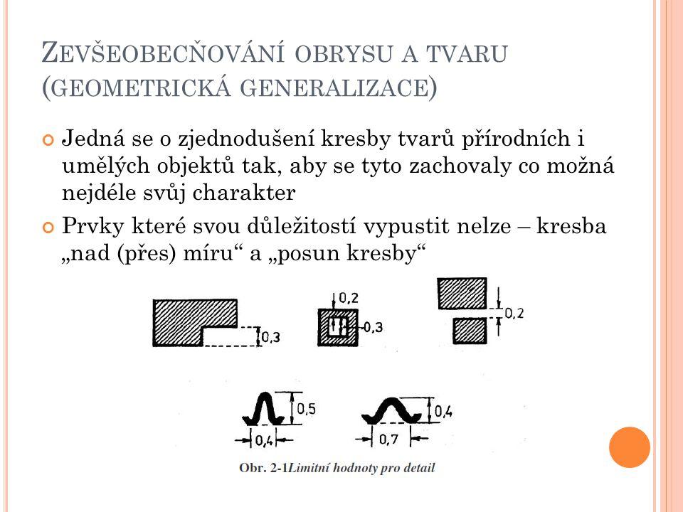 Nutno respektovat charakteristiky příslušných typů prvků a jejich seskupení (např.