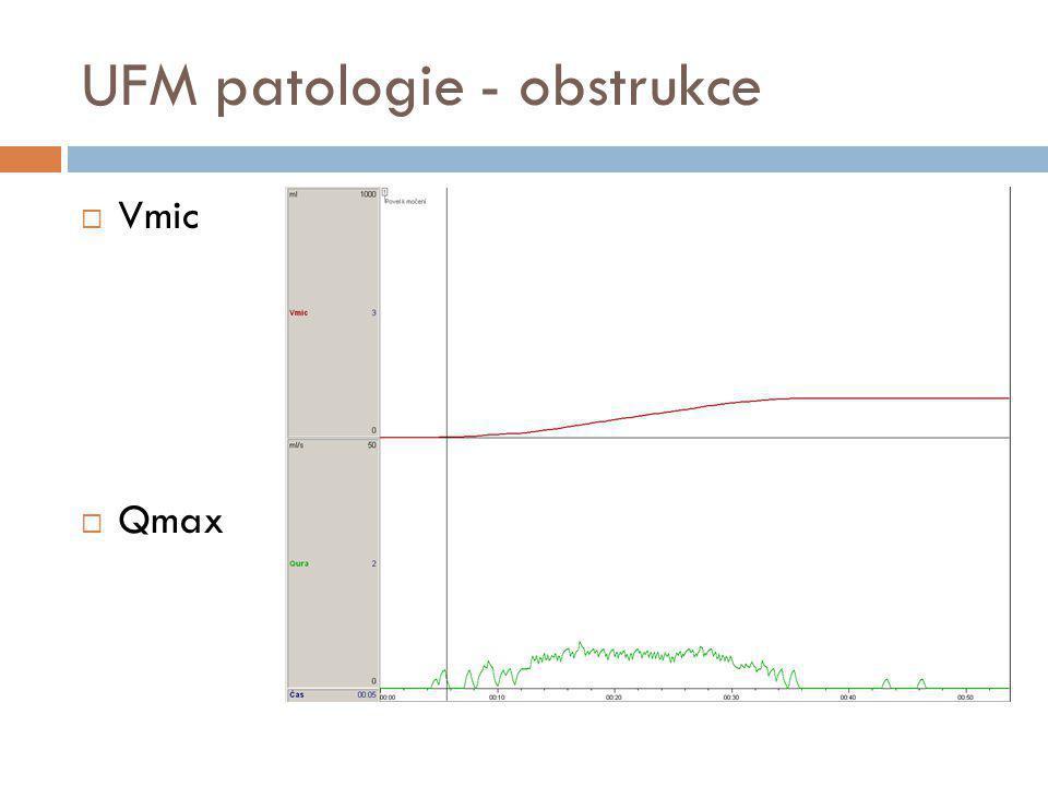 UFM patologie - obstrukce  Vmic  Qmax