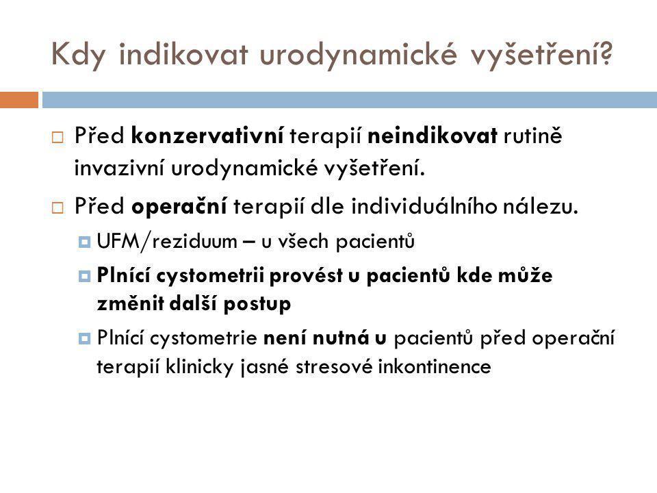 Průtokově manometrická studie  pVes  pAbd  pDet  Q