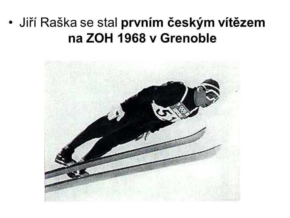 •Jiří Raška se stal prvním českým vítězem na ZOH 1968 v Grenoble