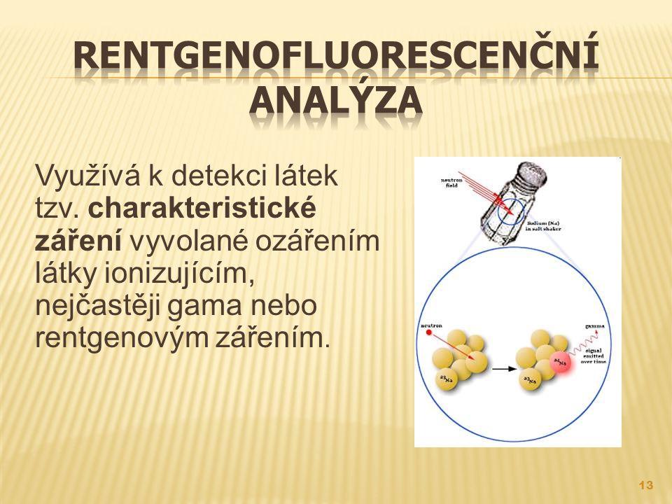 Využívá k detekci látek tzv.