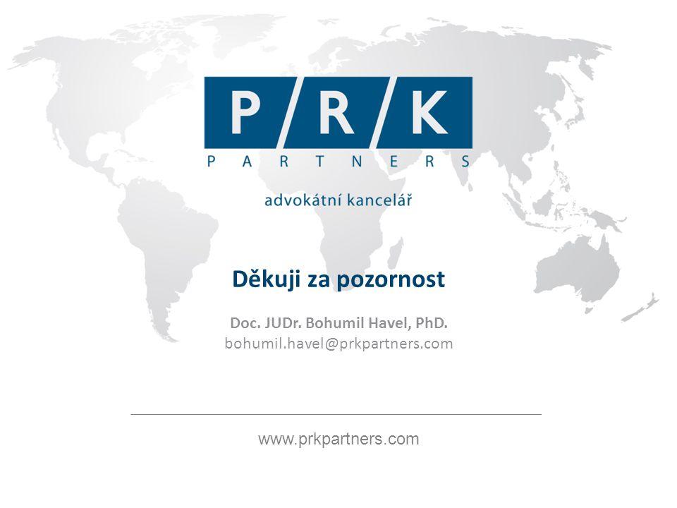 www.prkpartners.com Děkuji za pozornost Doc. JUDr.