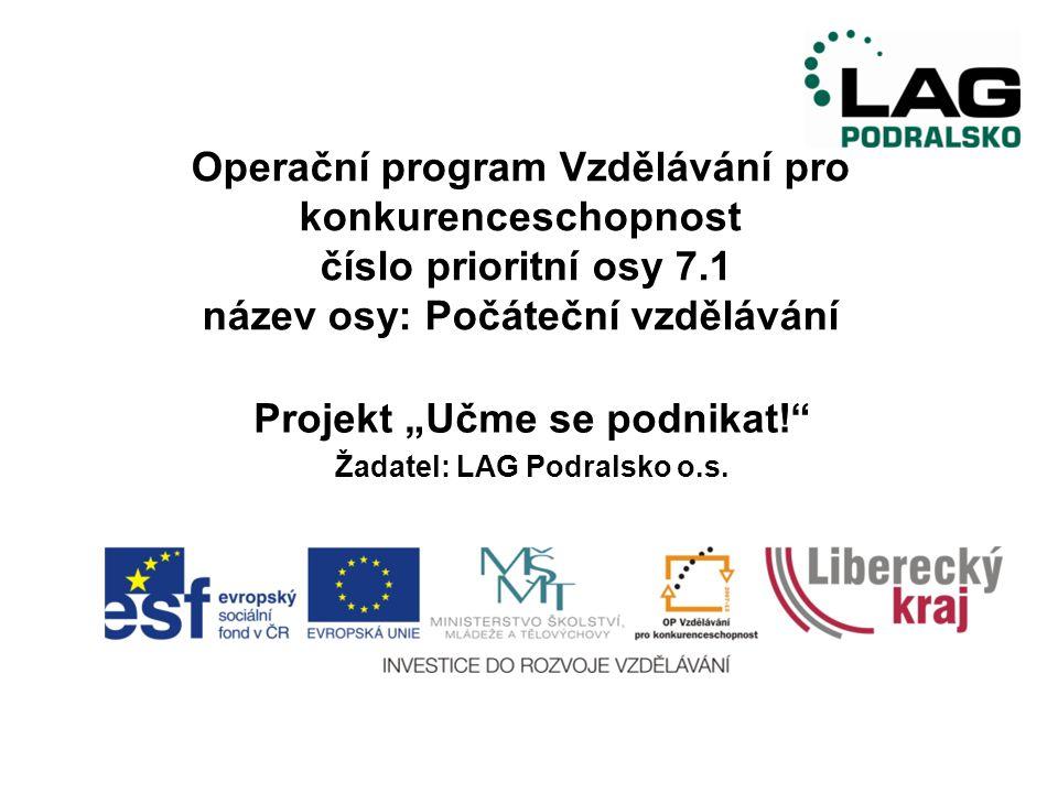 Děkujeme za pozornost.PhDr. Dagmar Strnadová Miroslava Váradiová Jindřich Šolc LAG Podralsko o.s.