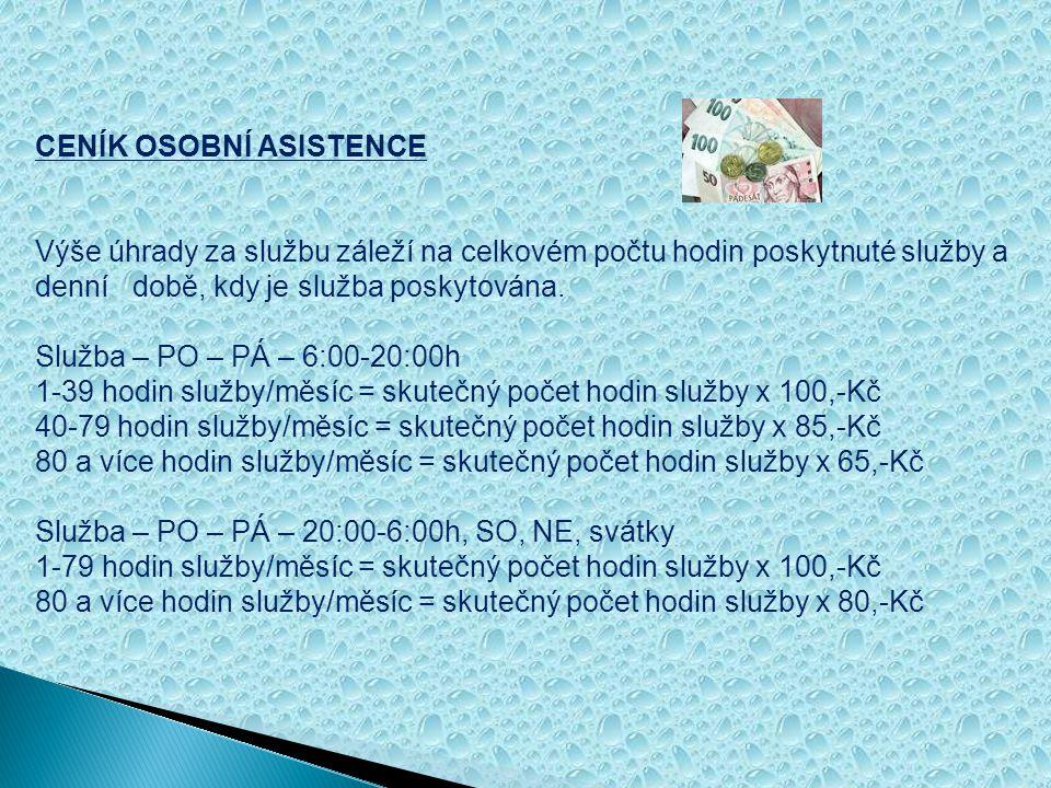 Služba osobní asistence obsahuje tyto činnosti: 1.