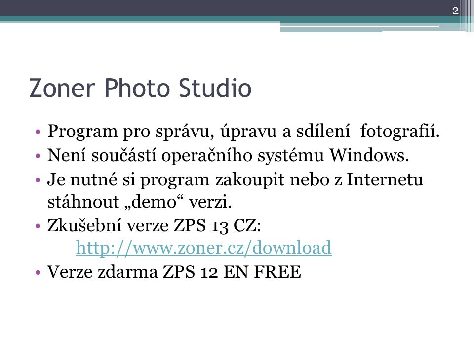 Zoner Photo Studio 12 – vzhled 3