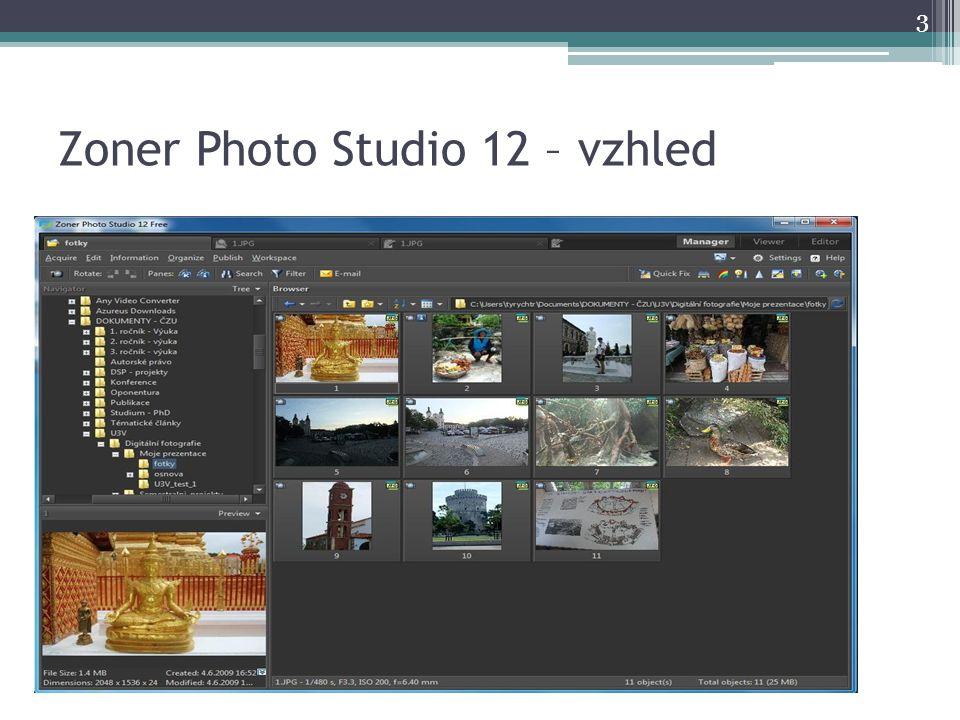 Zoner Photo Studio 12 – vzhled 3