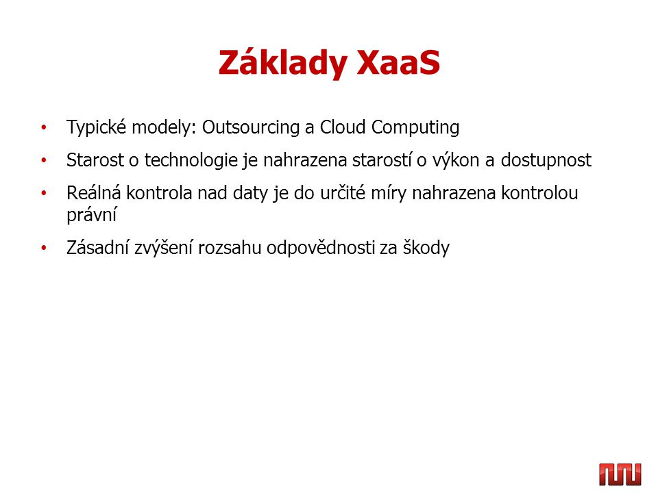 Co je nutné u Cloudu ošetřit.