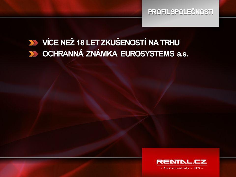 RENTAL GUARANTEE NULOVÉ INVESTICE MAXIMÁLNÍ TECHNICKÁ PODPORA NÁKUP, INSTALACE, SERVISY POJIŠTĚNÍ V CENĚ