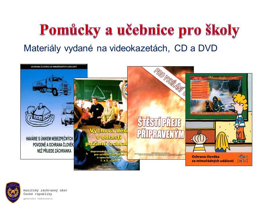 Materiály vydané na videokazetách, CD a DVD