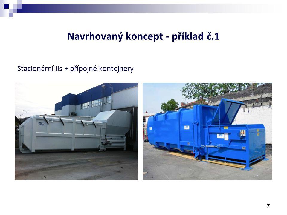 Navrhovaný koncept - příklad č.2 Lisovací kontejnery 8