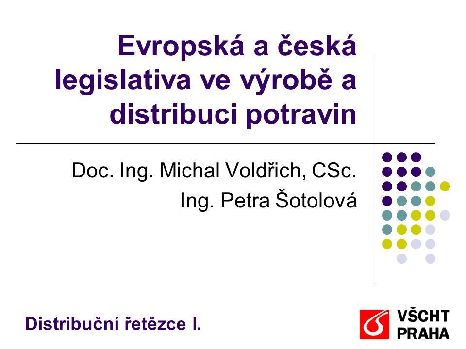 Nařízení EU Hygienický balíček  Nařízení Evropského parlamentu a rady (ES) č.