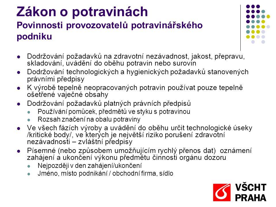 Komoditní vyhlášky  Mléko a mléčné výrobky 77/2003 Sb.