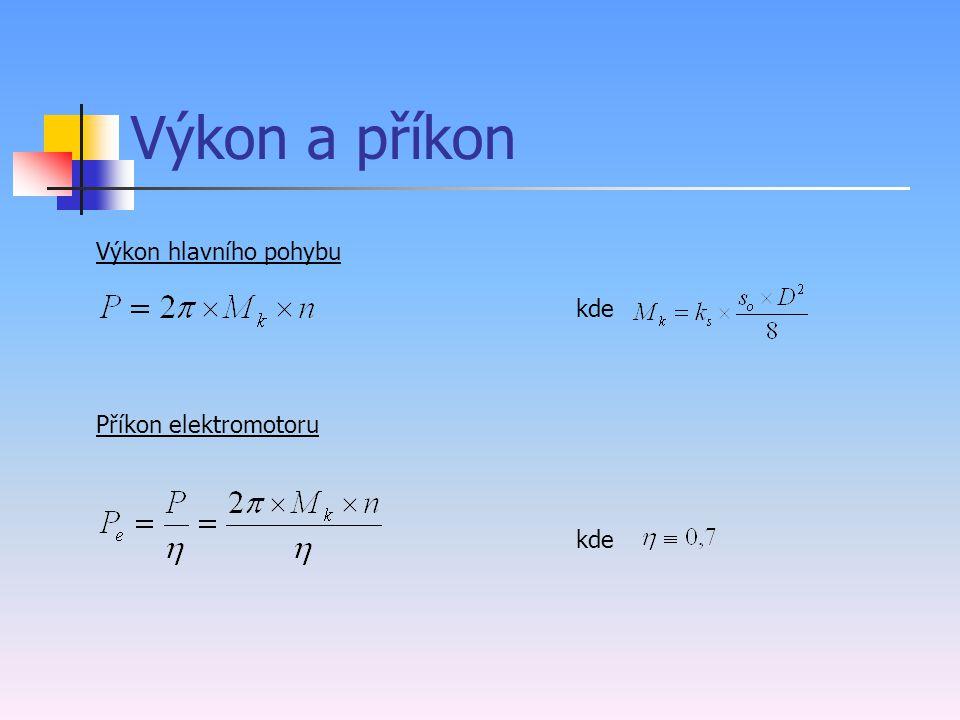 Síly při vrtání Velikost řezné síly se vypočte dle vztahu: k s - řezný odpor při obrábění S – průřez třísky Řezný odpor při vrtání je třeba překonat dvojicí sil: Posuvová (osová) síla Fx K – materiálová konstanta (pro ocel K=241) x,y – součinitelé (pro ocel x=0,7, y=0,6) f – posuv za otačku D – průměr nástroje