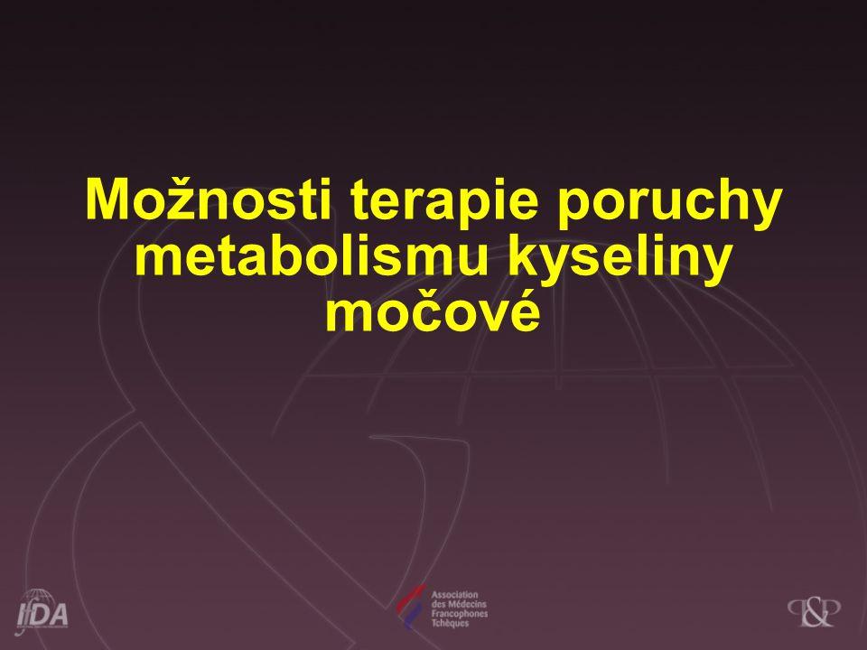 Možnosti terapie poruchy metabolismu kyseliny močové