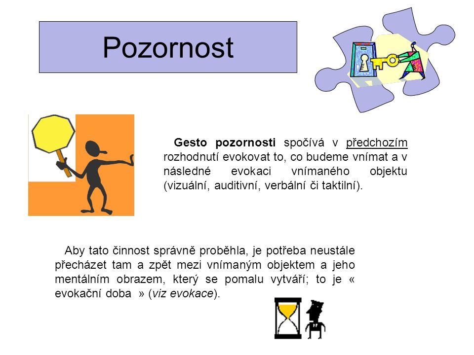 Pozornost Co říci studentům : Konkrétně .podívejte se na tento objekt, obraz, text, schéma,….