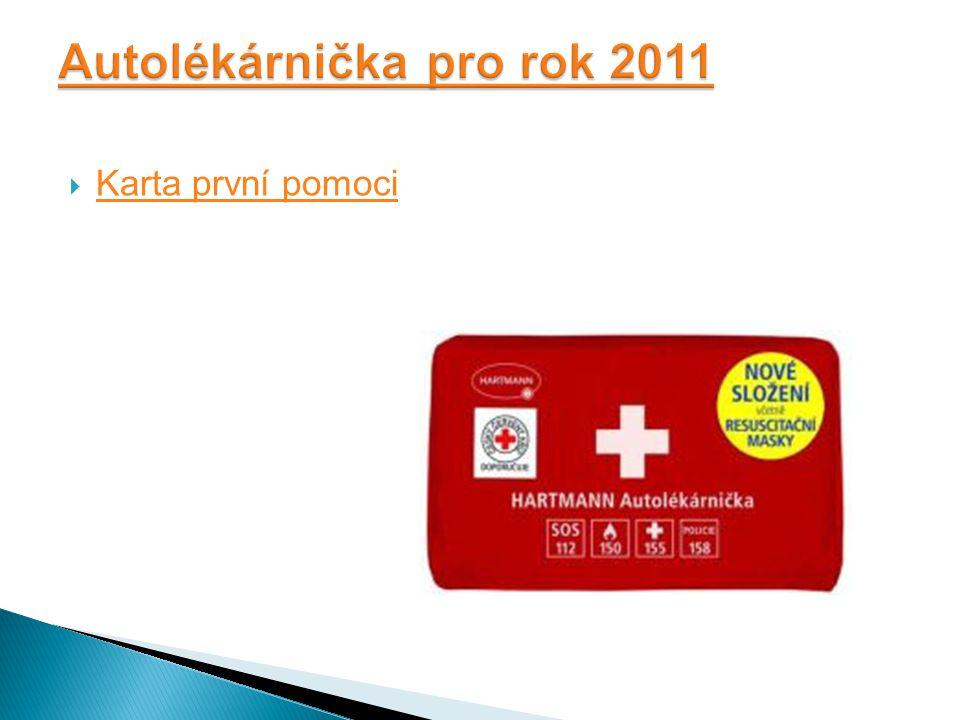  Karta první pomoci Karta první pomoci