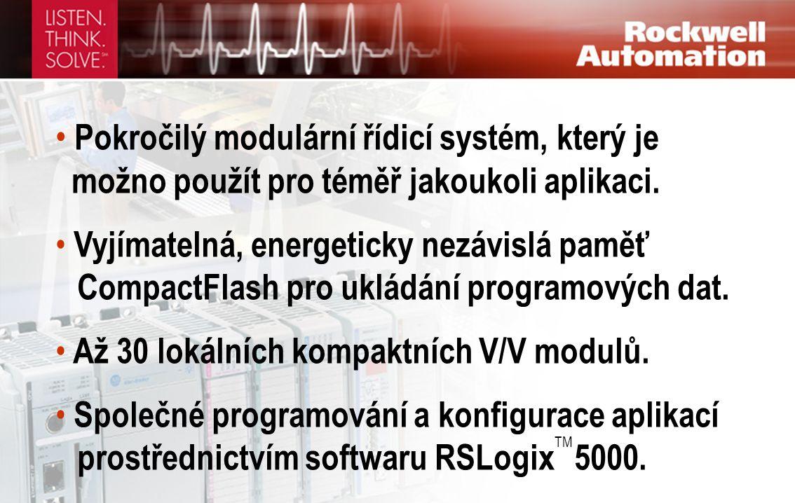 • Pokročilý modulární řídicí systém, který je možno použít pro téměř jakoukoli aplikaci. • Vyjímatelná, energeticky nezávislá paměť CompactFlash pro u