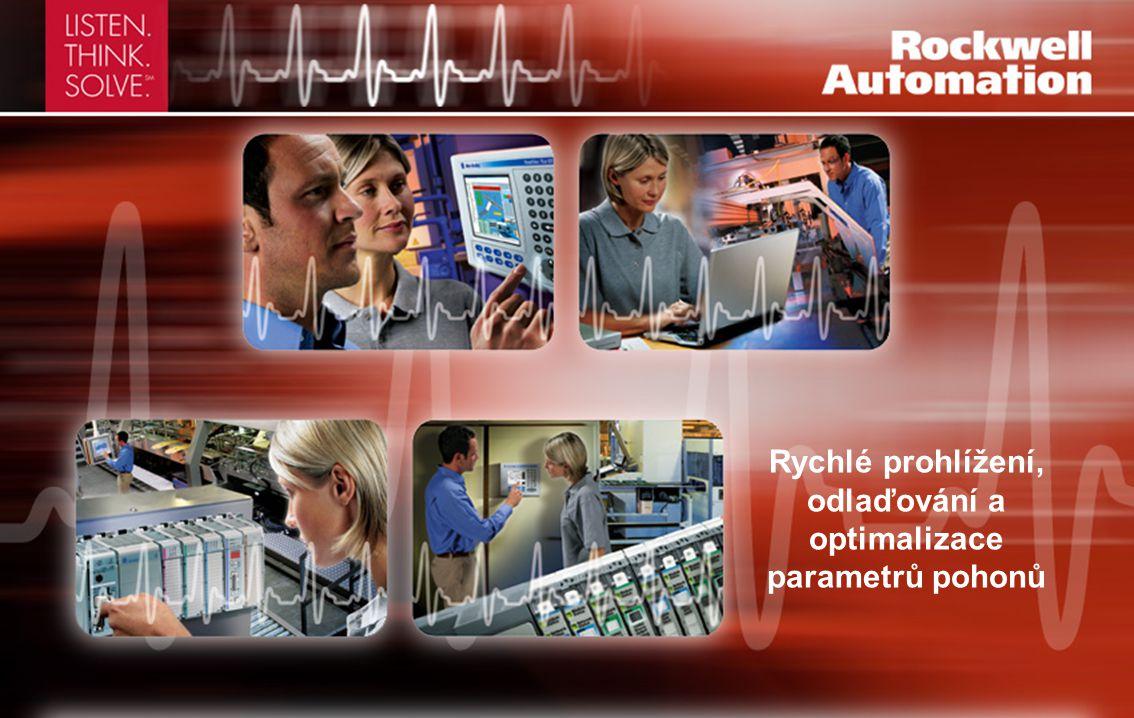 Rychlé prohlížení, odlaďování a optimalizace parametrů pohonů
