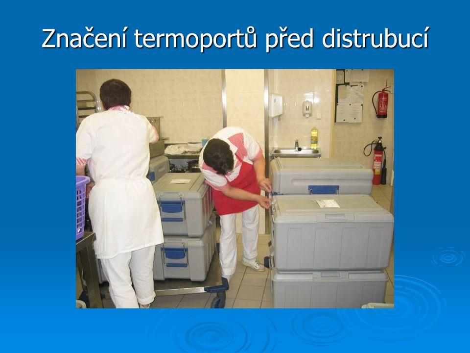 Značení termoportů před distrubucí