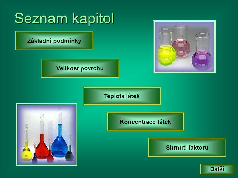 • Č• Č• Č• Částice výchozích látek se musí srazit tak, aby se překryly elektronové obaly atomů.