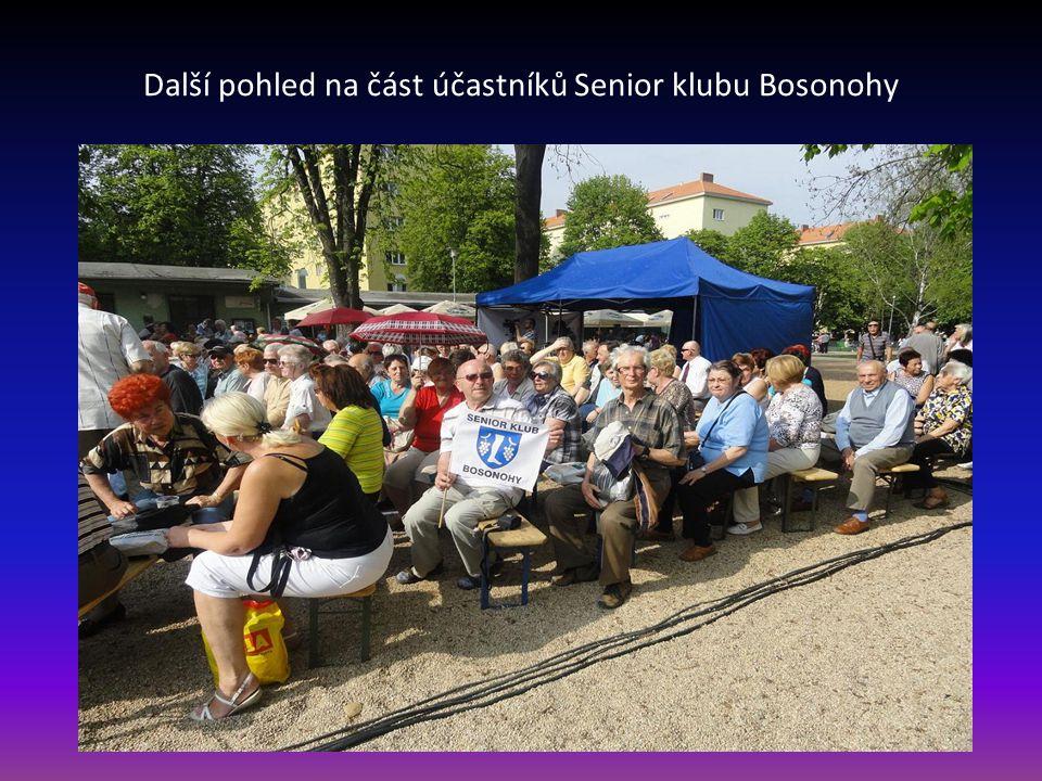 Pohled na část účastníků Senior klubu z Bosonoh