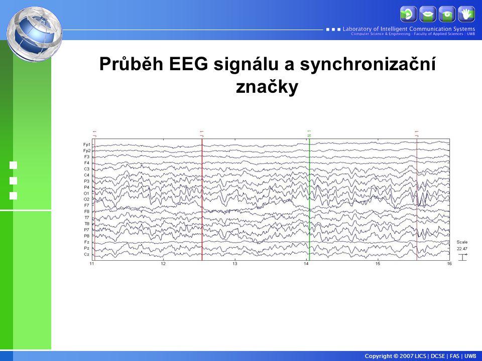 Copyright © 2007 LICS | DCSE | FAS | UWB Průběh EEG signálu a synchronizační značky