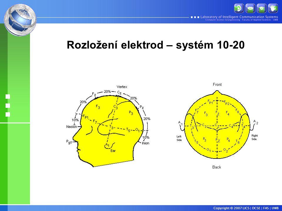 Copyright © 2007 LICS | DCSE | FAS | UWB Rozložení elektrod – systém 10-20