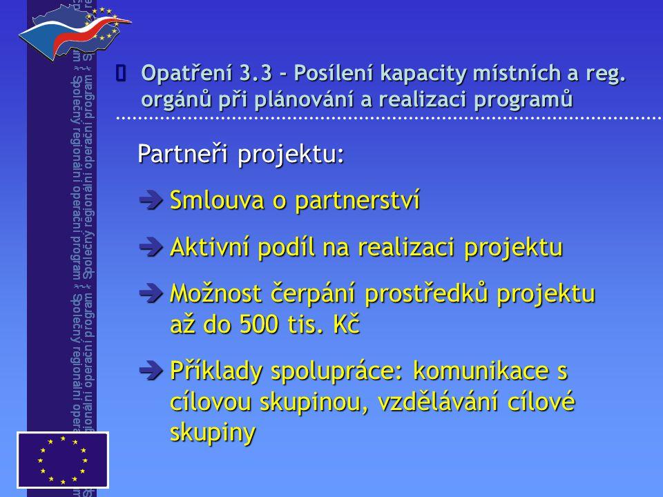 Opatření 3.3 - Posílení kapacity místních a reg.