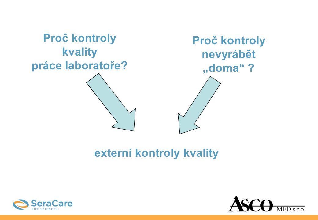 Externí nezávislé kontroly výrobce SeraCare (dříve Boston Biomedica) nejčastěji používané jsou kontroly ACCURUN 1 - multi-markerové - jedno-markerové - pozitivní - negativní pouze u některých onemocnění