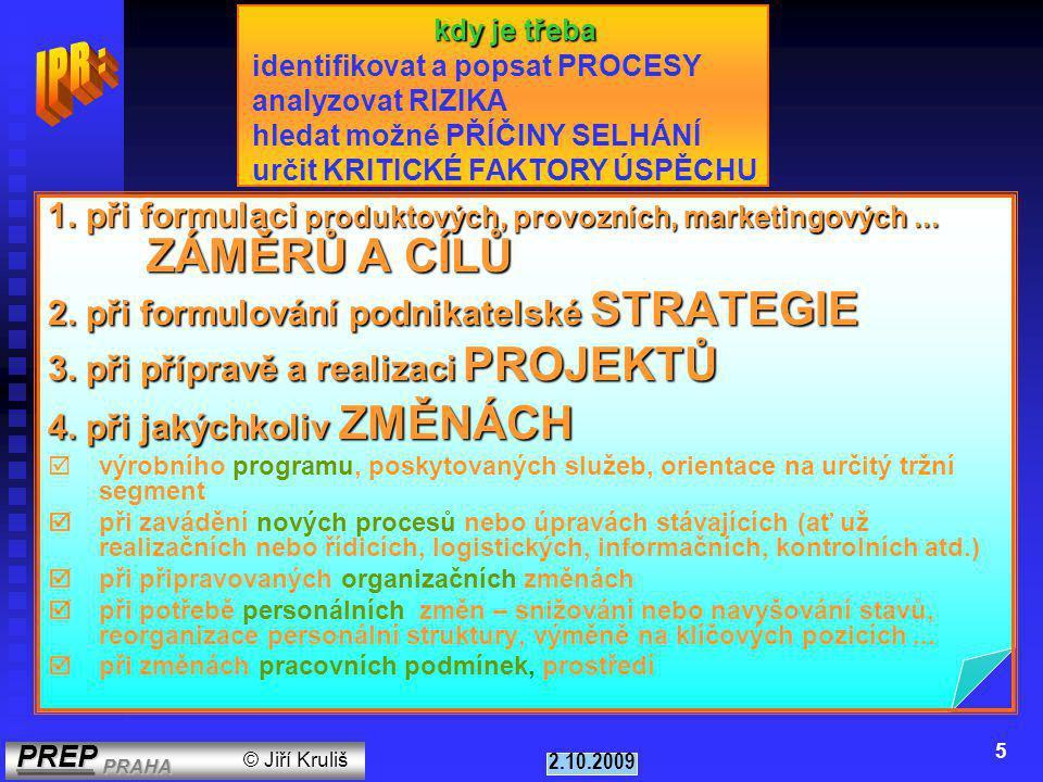PREP PRAHA PREP PRAHA © Jiří Kruliš 2.10.2009 5 1.