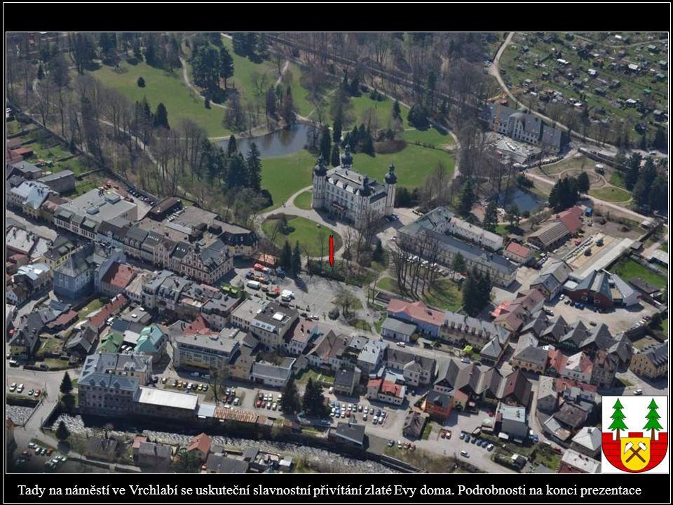 Evino rodné město Vrchlabí z ptačí perspektivy